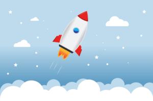 Rakete Webseitengeschwindigkeit